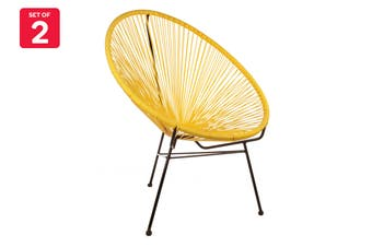 Matt Blatt Set of 2 Acapulco Outdoor Chair Replica (Yellow)