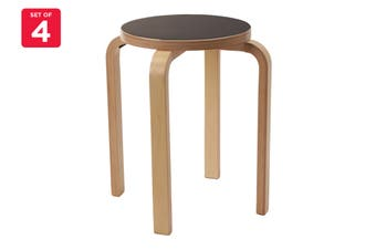 Matt Blatt Set of 4 Replica Aalto Low Stool (Black)