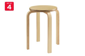 Matt Blatt Set of 4 Replica Aalto Low Stool (Natural)