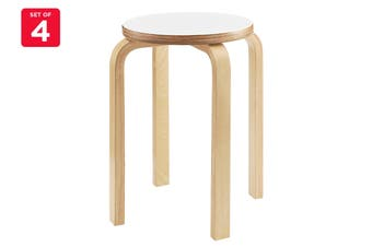 Matt Blatt Set of 4 Replica Aalto Low Stool (White)