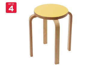 Matt Blatt Set of 4 Replica Aalto Low Stool (Yellow)