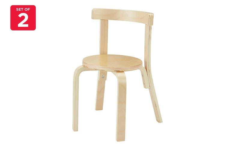 Matt Blatt Set of 2 Alvar Aalto Kids Chair 68 Replica (Natural)
