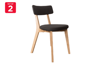 Matt Blatt Set of 2 Arne Dining Chair (Black, Ash)