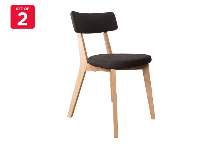 Matt Blatt Set of 2 Arne Dining Chair (Black, Ash)