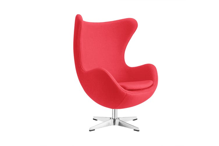 Matt Blatt Arne Jacobsen Egg Chair Replica Red Matt Blatt