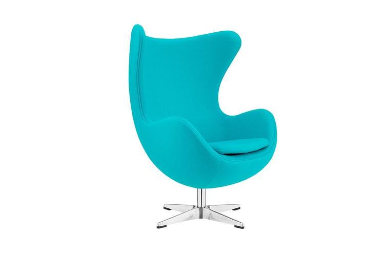 Matt Blatt Arne Jacobsen Egg Chair - Replica (Teal)