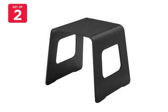 Matt Blatt Set of 2 Benjamin Stool (Black)