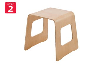 Matt Blatt Set of 2 Benjamin Stool (Natural)
