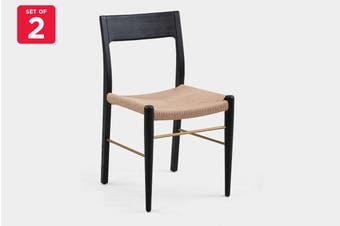 Matt Blatt Set of 2 Brasilia Dining Chair (Black Oak)