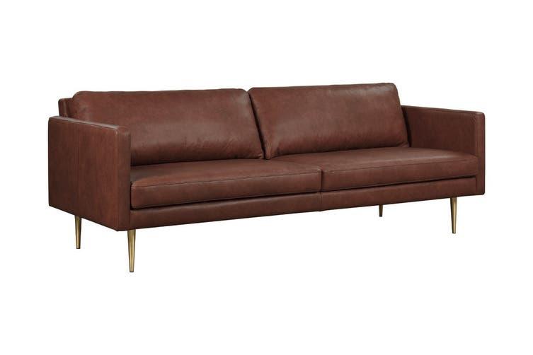 Matt Blatt Bronx 3 Seater Leather Sofa (Courier Hazel)