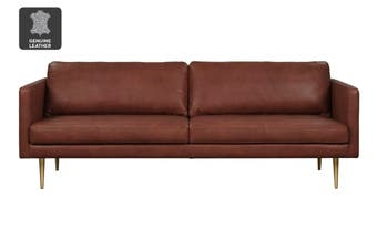 Matt Blatt Bronx 3 Seater Leather Sofa (Courier Hazel)