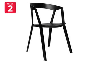 Matt Blatt Set of 2 Patrick Norguet Compas Chair Replica (Black)