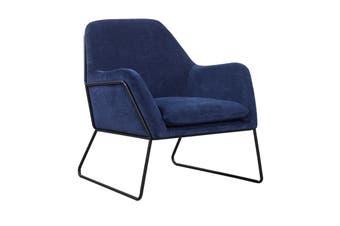 Matt Blatt Delilah Armchair (Textured Velvet Sapphire)