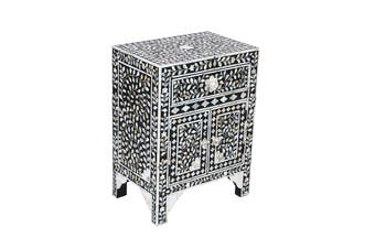 Matt Blatt Demi Mother of Pearl Bedside Table