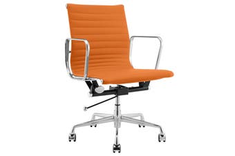 Matt Blatt Replica Eames Group Standard Aluminium Low Back Office Chair (Orange PU)