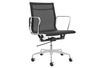 Matt Blatt Replica Eames Group Standard Aluminium Office Chair (Black)