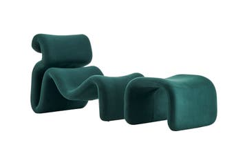 Matt Blatt Jan Ekselius Etcetera Lounge Chair and Ottoman Replica (Green)