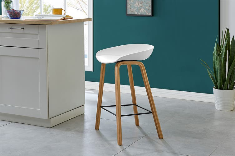 Matt Blatt Set of 2 Enjo Stool (White Beech Legs)
