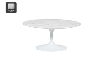 Matt Blatt Eero Saarinen Tulip Coffee Table in Marble - Replica
