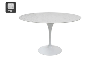 Matt Blatt Eero Saarinen Round Tulip Dining Table in Marble (150cm) - Replica