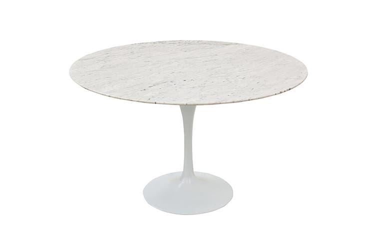 Matt Blatt Eero Saarinen Round Tulip Dining Table in Marble (120cm) - Replica