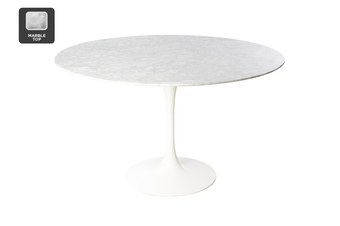 Matt Blatt Eero Saarinen Oval Tulip Dining Table in Marble (200cm) - Replica