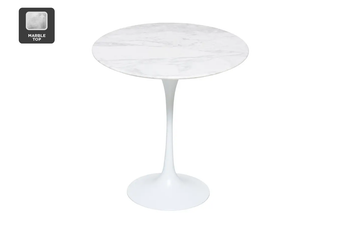 Matt Blatt Eero Saarinen Tulip Side Table in Marble - Replica