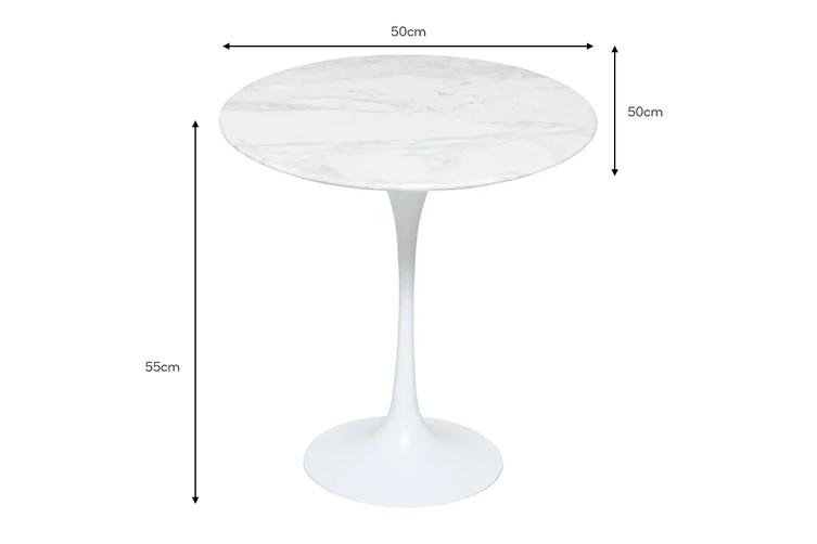 Matt Blatt Eero Saarinen Tulip Side Table in Marble - Replica