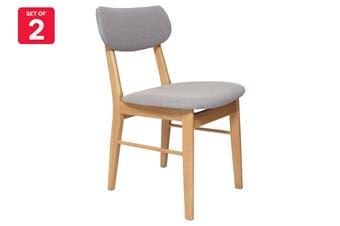 Matt Blatt Set of 2 Fraser Chair (Light Grey Fabric)
