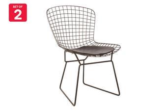 Matt Blatt Set of 2 Harry Bertoia Side Chair Replica (Black)