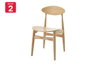 Matt Blatt Set of 2 Hans Wegner CH33 Chair (Ash)