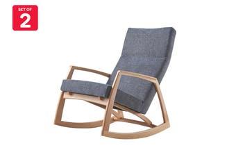 Matt Blatt Edvard Danish Design Rocking Chair Replica (Ash)