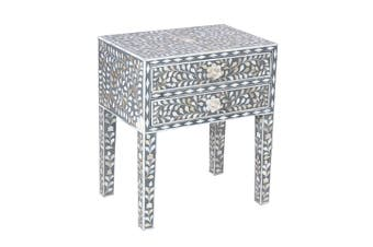 Matt Blatt Ivy Mother of Pearl Bedside Table