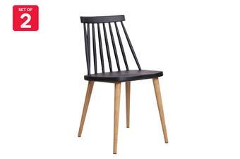 Matt Blatt Set of 2 Jefferson Dining Chair (Black Plastic)