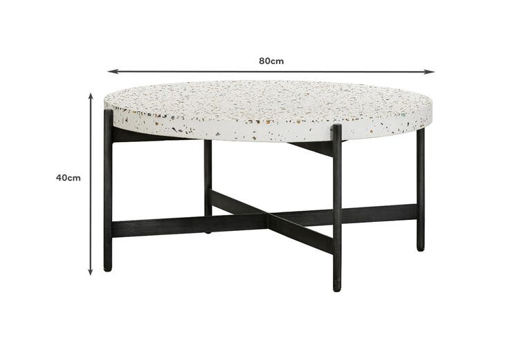 Matt Blatt Jaque Terrazzo Coffee Table (80cm)