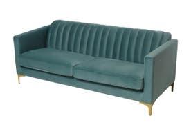 Matt Blatt Jules 3 Seater Sofa (Green Velvet)