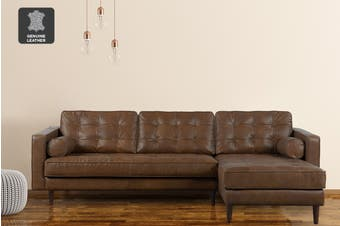 Matt Blatt Lexington 3 Seater Leather Sofa with Chaise (RHF) (Oxford Tan)