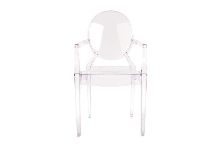 Matt Blatt Set of 2 Philippe Starck Louis Ghost Armchair Replica (Clear)