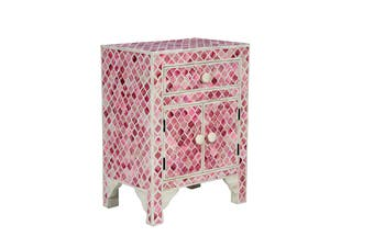 Matt Blatt Luca Bone Inlay Bedside Table