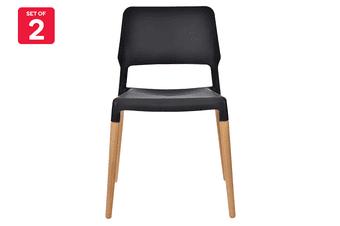 Matt Blatt Set of 2 Mack Dining Chair (White/Beech)