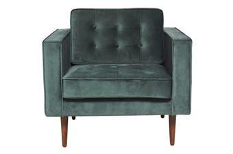 Matt Blatt Marcella Velvet Armchair (Green)