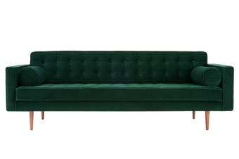 Matt Blatt Marcella Velvet 3 Seater Sofa (Green)