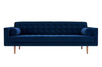 Matt Blatt Marcella Velvet 3 Seater Sofa (Navy)