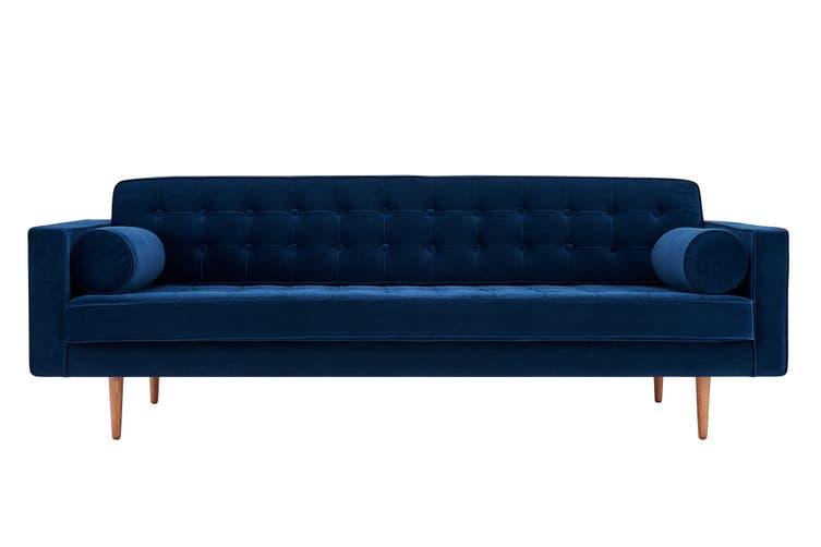Matt Blatt Marcella Velvet 3 Seater Sofa (Navy)