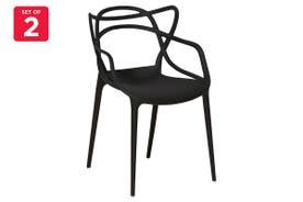 Matt Blatt Set of 2 Philippe Starck Masters Chair Replica (Black)