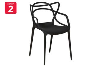 Matt Blatt Set of 2 Philippe Starck Masters Chair Replica (Black)
