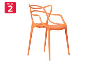 Matt Blatt Set of 2 Philippe Starck Masters Chair Replica (Orange)
