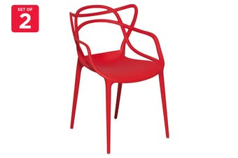 Matt Blatt Set of 2 Philippe Starck Masters Chair Replica (Red)