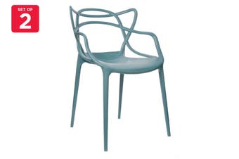 Matt Blatt Set of 2 Philippe Starck Masters Chair Replica (Teal)