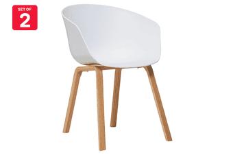 Matt Blatt Set of 2 Nora Dining Chair (White Beech Legs)